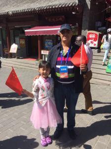 à l'entrée des murailles de Chine non loin de Pékin